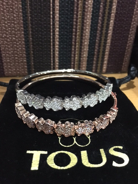 Tous Bear Rhinestone Bangle