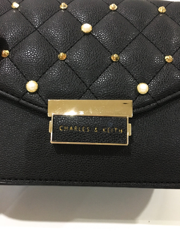 Charles and Keith Stud Detail Quilted Bag