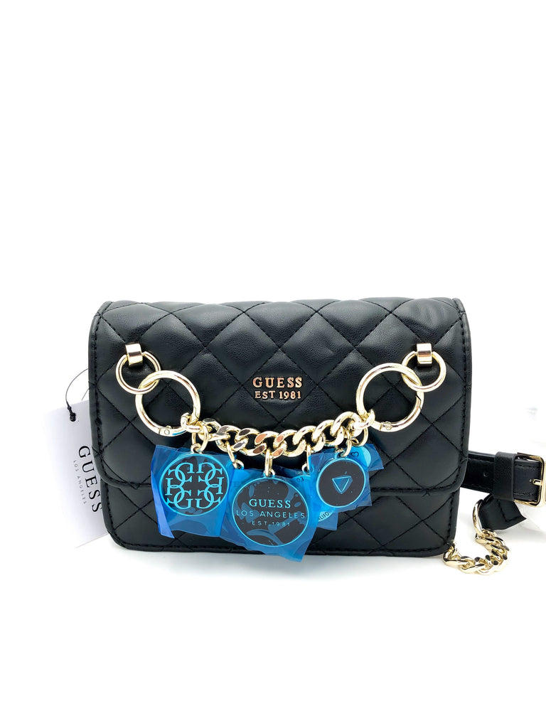 Guess Victoria Quilted Chain Crossbody
