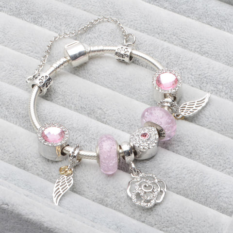 Tree Heart Shoe/ Flower Carriage Charm Bracelet