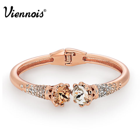 Viennois Rose Gold Snake Necklace
