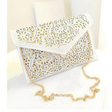 Vintage Envelop Hollow Out  Clutch/Crossbody Bag