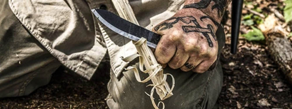 Using your Survival Knife to Build a Bushcraft Camp