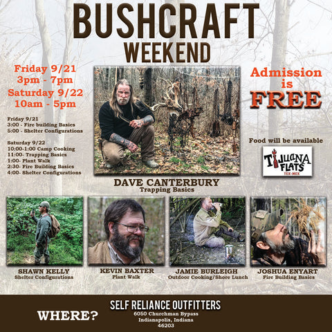 Bushcraft Event at Self Reliance Outfitters