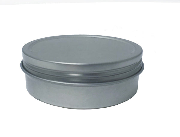 2oz Round Steel Container - Screw Top