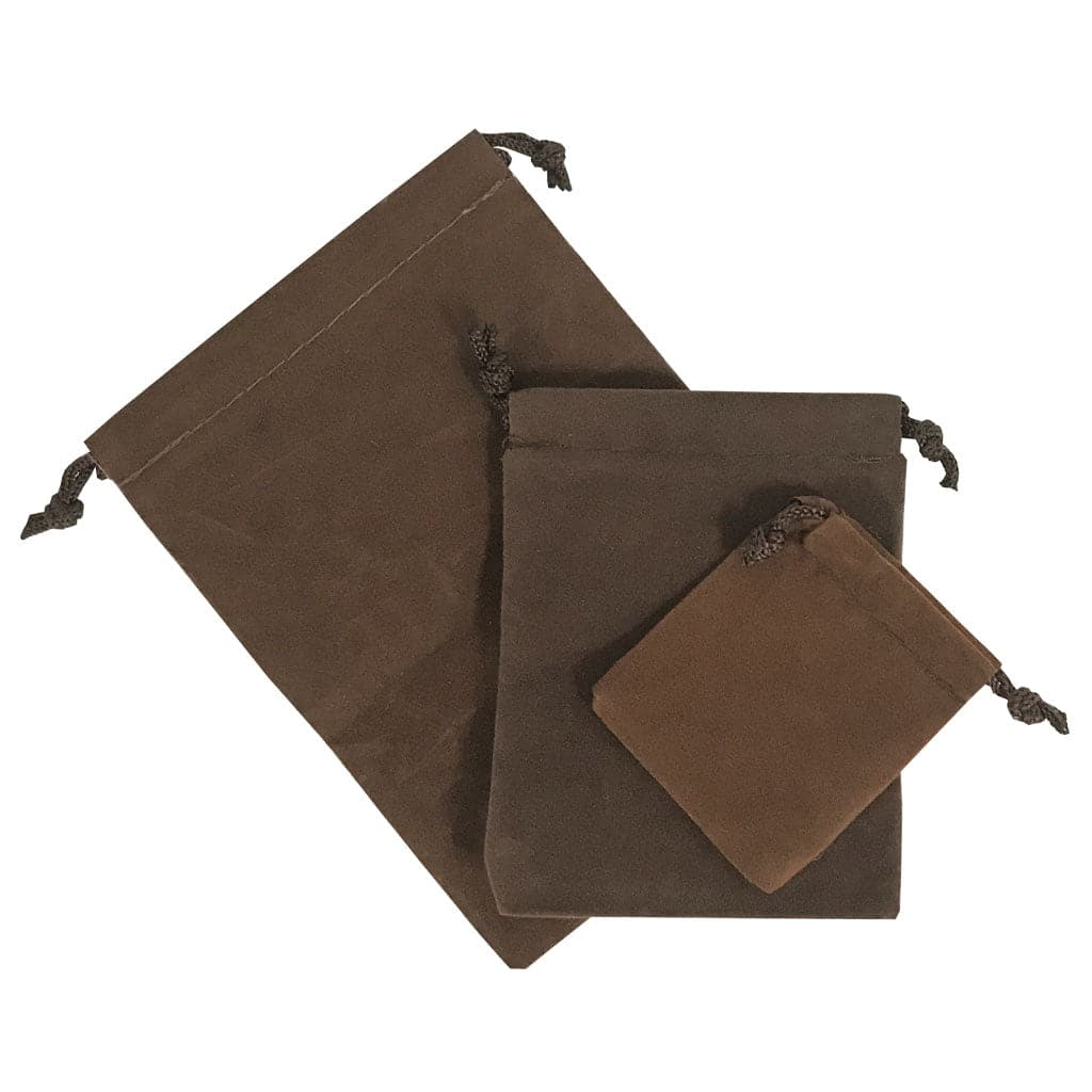 3 pc. Brown Velour Bag Set