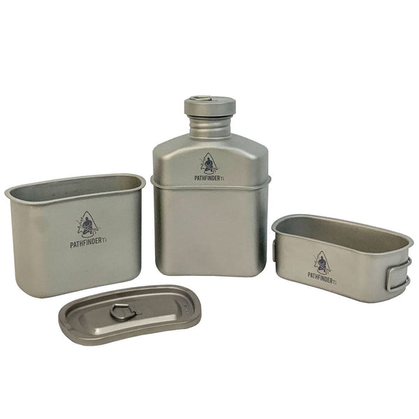 1100ml Titanium Canteen Cooking Set