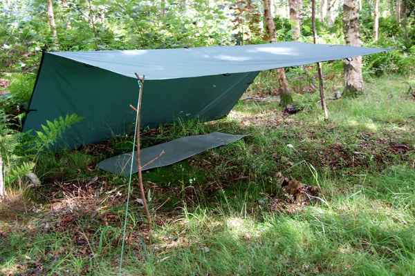 image of tarp covering hammock