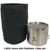 Pathfinder Waxed Canvas Large Bush Pot Bag