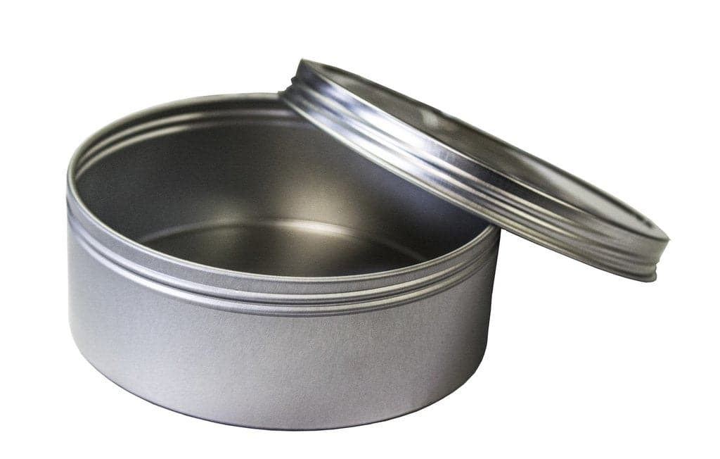 8oz Round Steel Container - Screw Top