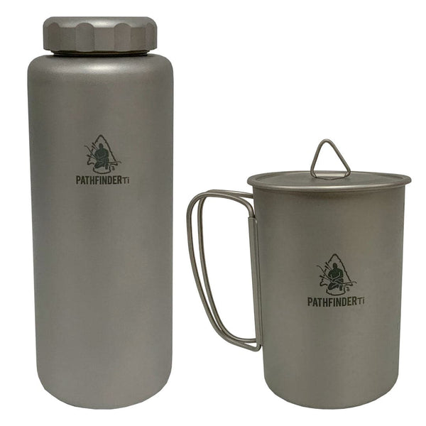 1050ml Titanium Bottle & Cup Set