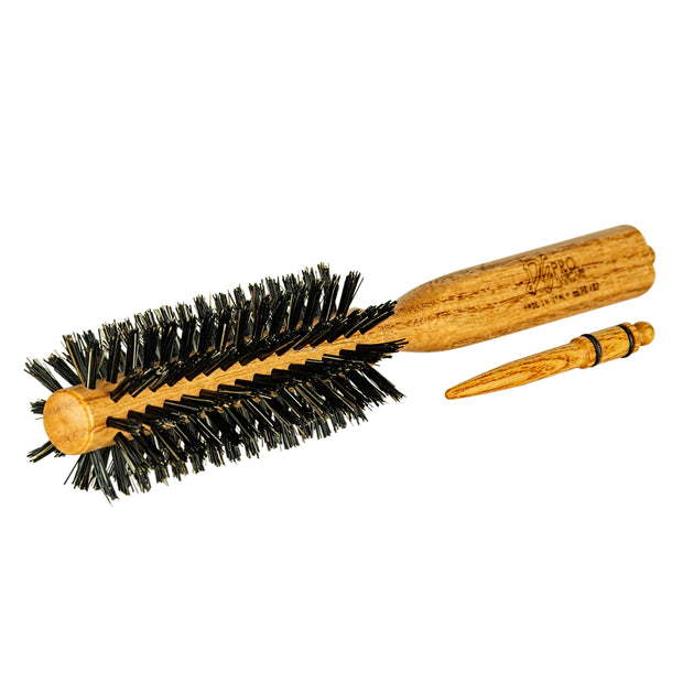 DE David Ezra Wooden Round Brush - David Ezra Professional Haircare