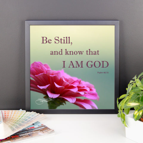 Be Still And Know That I Am God Psalm 4610 Wall Art Photo