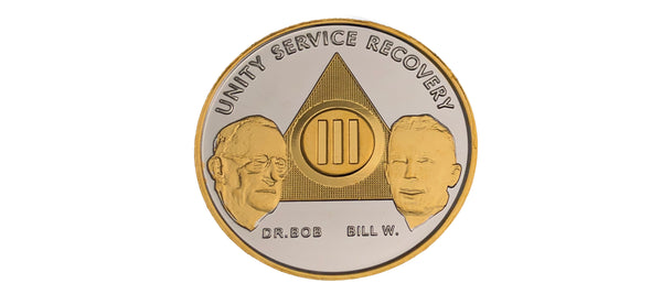 Bill and Bob Bi-Plated Medallions
