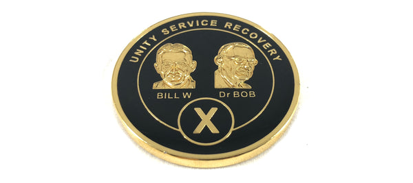Bill and Bob Black on Gold Plated Medallions