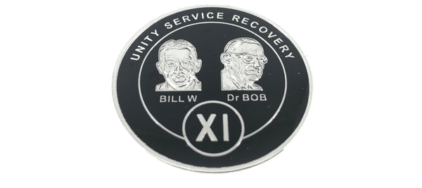 Bill and Bob Black on Silver Plated Medallions