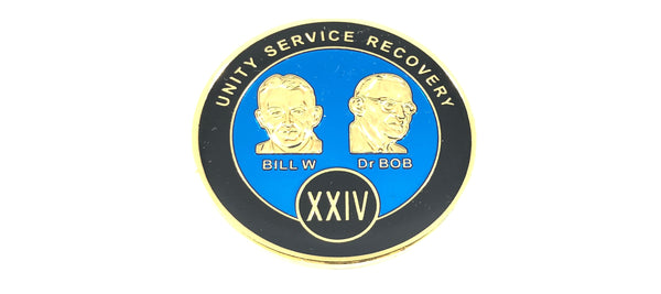 Bill and Bob Blue on Gold Plated Medallions