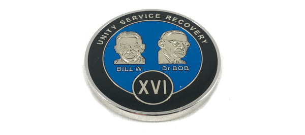 Bill and Bob Blue on Silver Plated Medallions