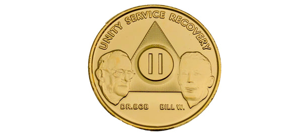 Bill and Bob Gold-Plated Medallions