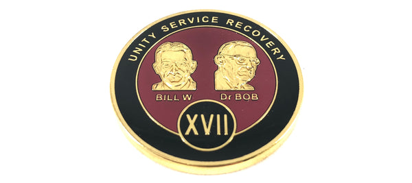 Bill and Bob Maroon on Gold Plated Medallions