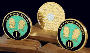 Bill & Bob Green on Gold Plated Medallions