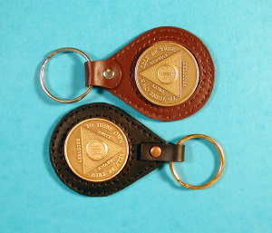 Leather Medallion Key Ring Holders