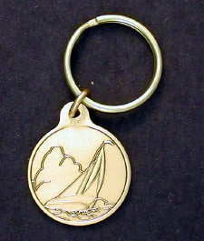 Sail Boat Small Key Tags