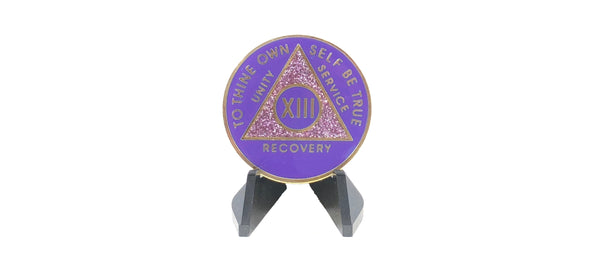 Double Purple Sparkle Medallion