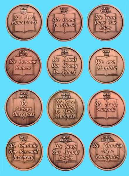 12 Step Coins - Complete Set
