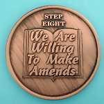 12 Step Coins - Step 8 - We Are Willing To Make Amends