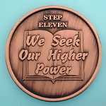 12 Step Coins - Step 11 - We See Our Higher Power