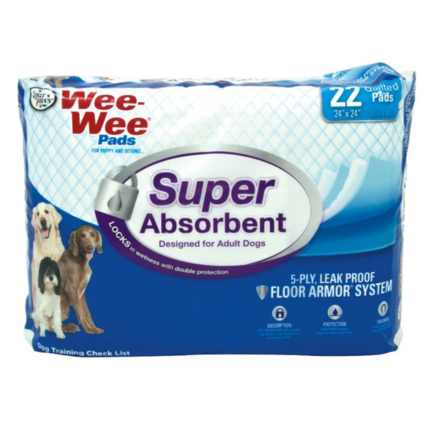 Wee-Wee Super Absorbent Pads 22 count