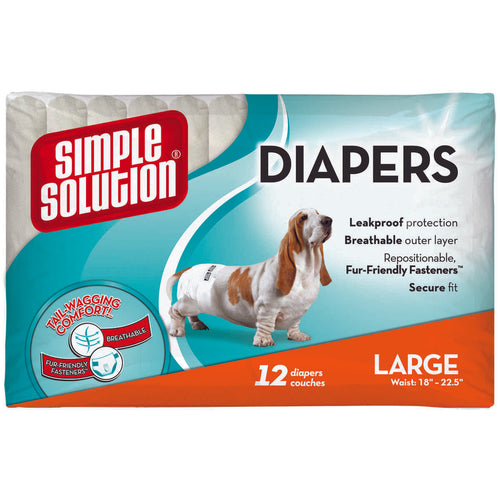 Disposable Dog Diapers 12 pack