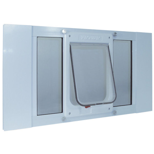 Aluminum Sash ChubbyKat Flap Pet Door