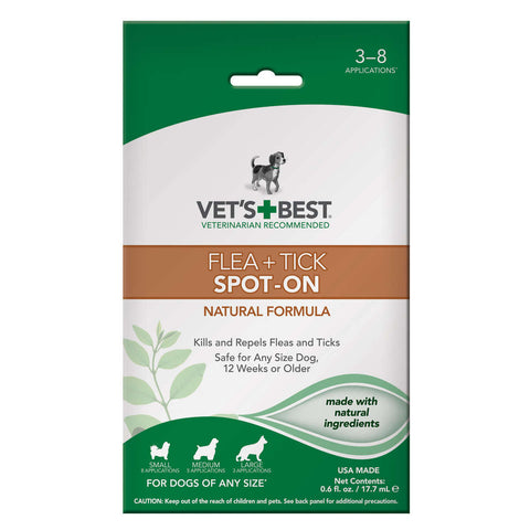 Dog Flea and Tick Spot-On Formula 0.6oz