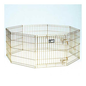 Gold Zinc Pet Exercise Pen 8 panels