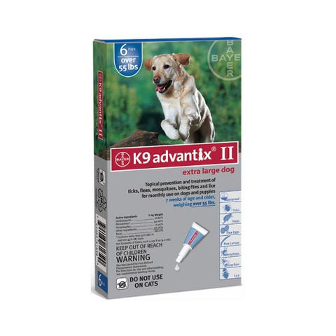 Flea and Tick Control for Dogs Over 55 lbs 6 Month Supply