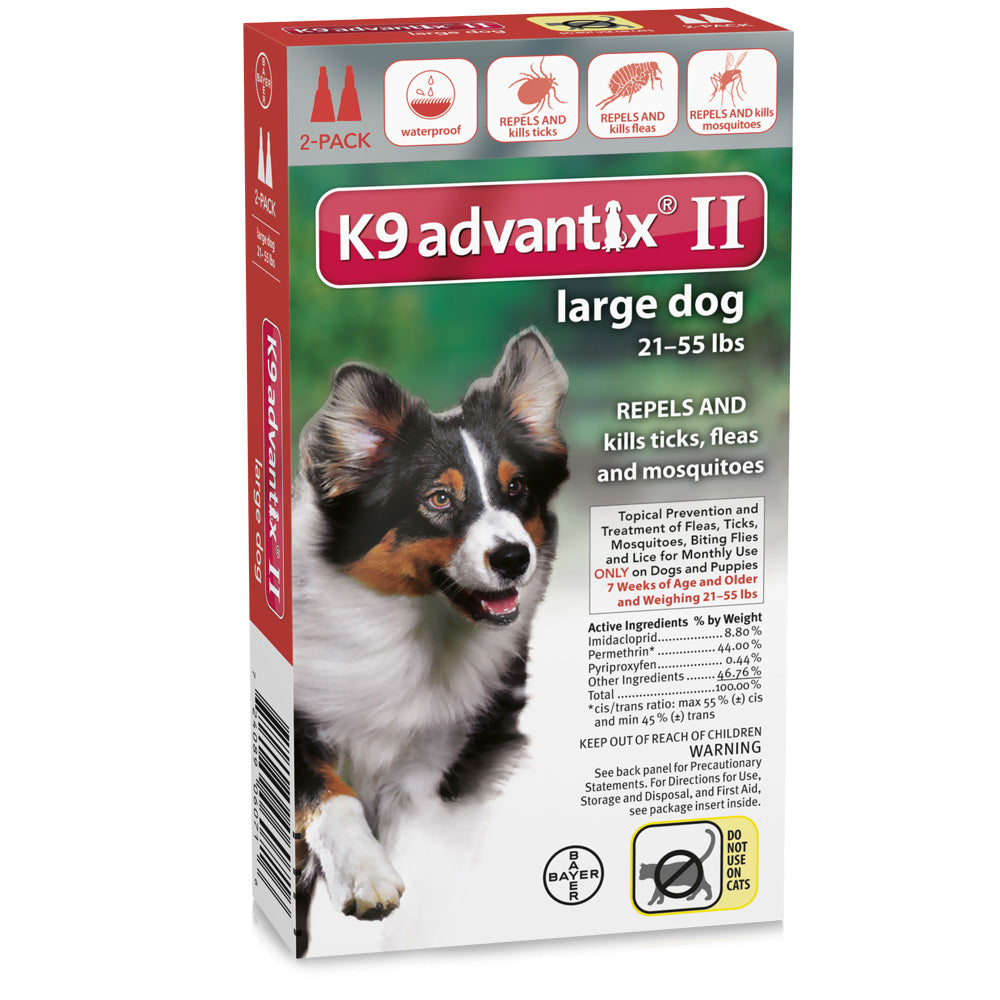 Flea and Tick Control for Dogs 20-55 lbs 2 Month Supply