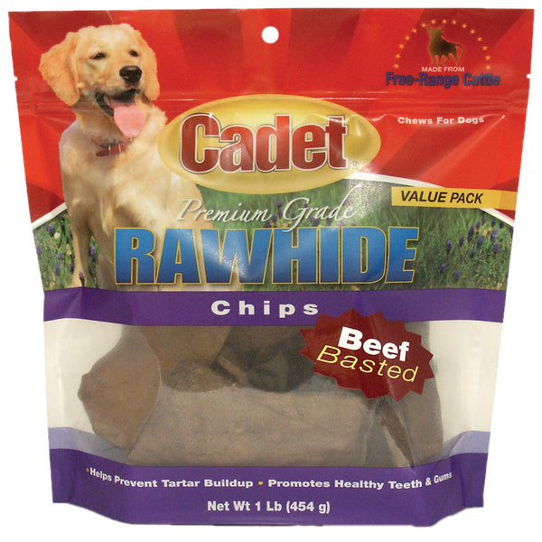 Rawhide Chips Beef Basted 1 pound
