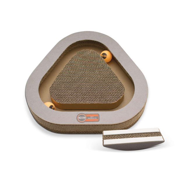 Kitty Tippy Triangle Cardboard Toy