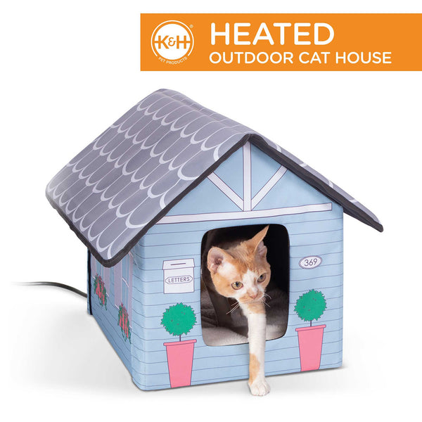 Outdoor Heated Kitty House Cat Shelter Cottage Design