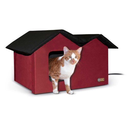 Outdoor Kitty House Extra-Wide Heated