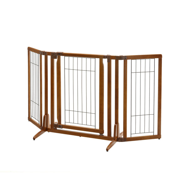 Premium Plus Freestanding Pet Gate with Door