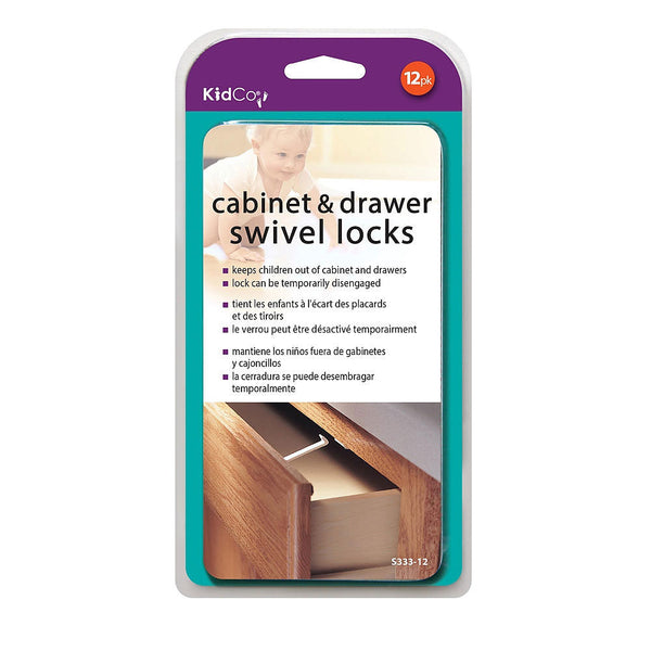 Swivel Cabinet and Drawer Locks 12 pack