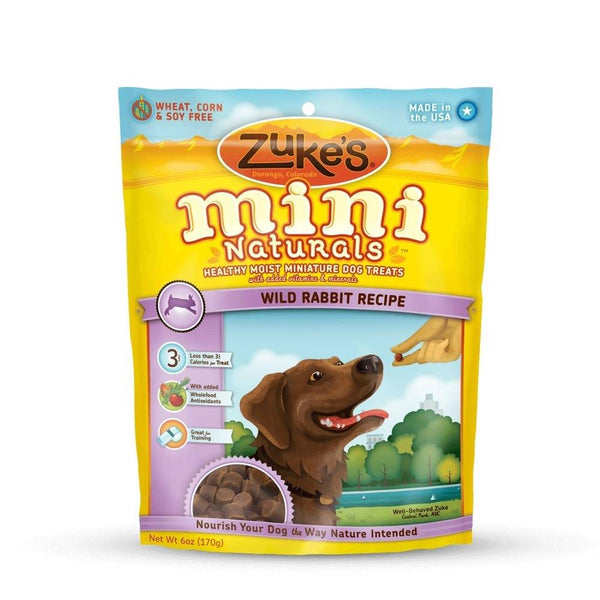 Mini Naturals Moist Miniature Treat for Dogs Wild Rabbit 6 oz.