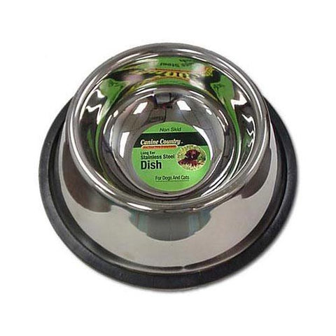 No-Tip Non-Skid Stainless Steel Bowl 24oz.