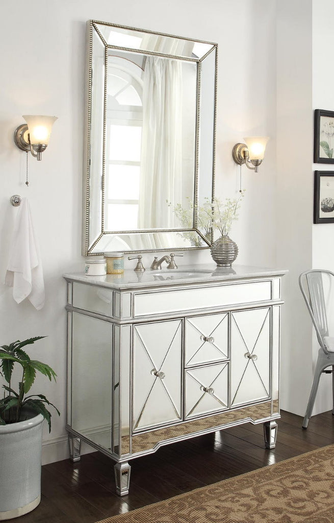 """Mirrored Vanities & Mirror Sets – Tagged """"mirrored silver ..."""