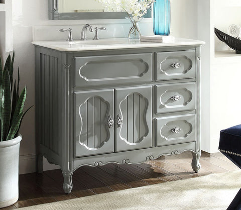 "42"" Victorian Cottage Style Knoxville Bathroom sink vanity Model GD-1509CK-42 - Chans Furniture - 1"