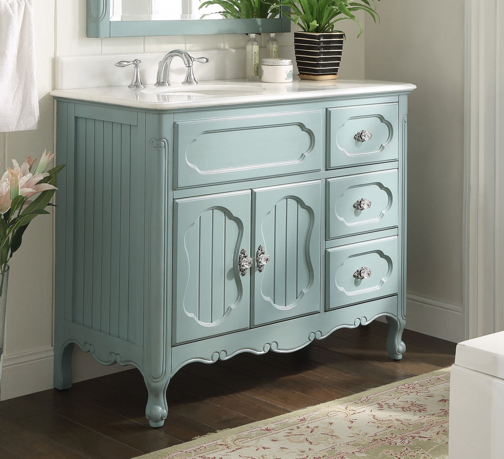 "42"" Victorian Cottage Style Knoxville Bathroom sink vanity Model GD-1509LB-42 - Chans Furniture - 1"