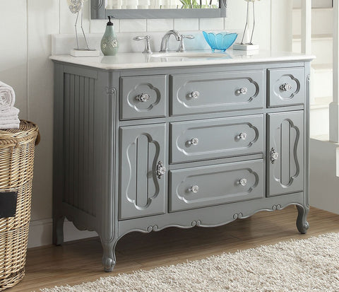"48"" Victorian Cottage Style Knoxville Bathroom sink vanity Model GD-1522CK-48BS - Chans Furniture - 1"
